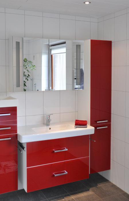 Waschtisch Mit Spiegel Und Seitenschränken